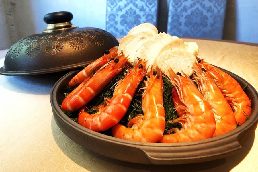 陶板茴香彩杉蝦